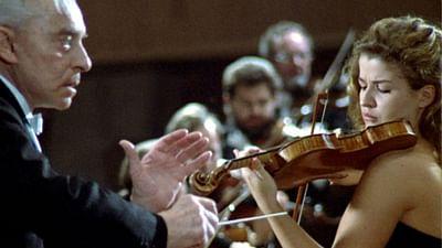 Anne-Sophie Mutter und Herbert von Karajan: das Beethoven-Konzert