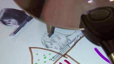 Zeichnen mit Tinte und Wasserfarben