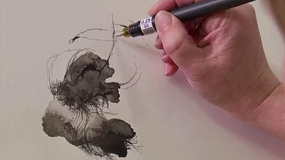 Zeichnen mit der Laviertechnik