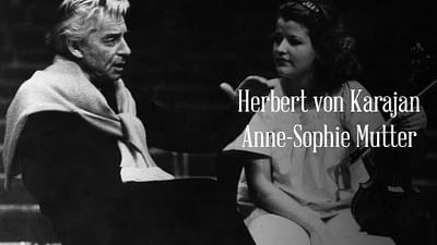Anne-Sophie Mutter und Herbert von Karajan spielen Beethoven