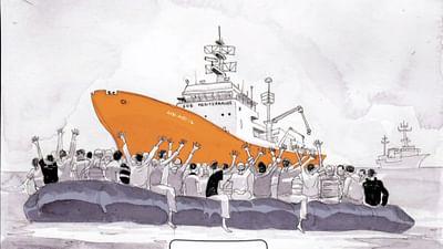 Comic: An Bord der Aquarius