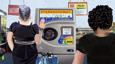 Karambolage - der Gegenstand: der Pfandflaschenautomat