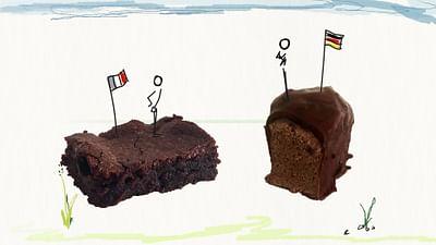 die Speise: der Schokoladenkuchen