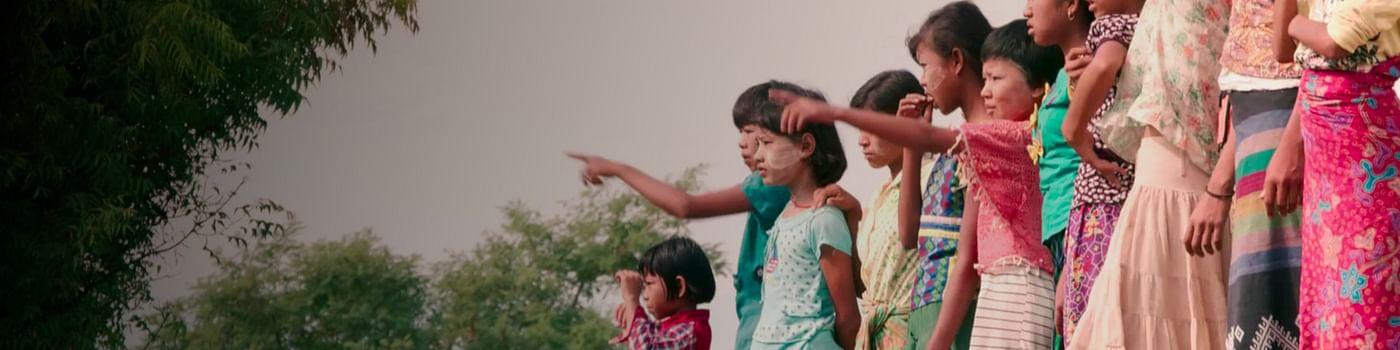 Kinder entlang der Seidenstraße