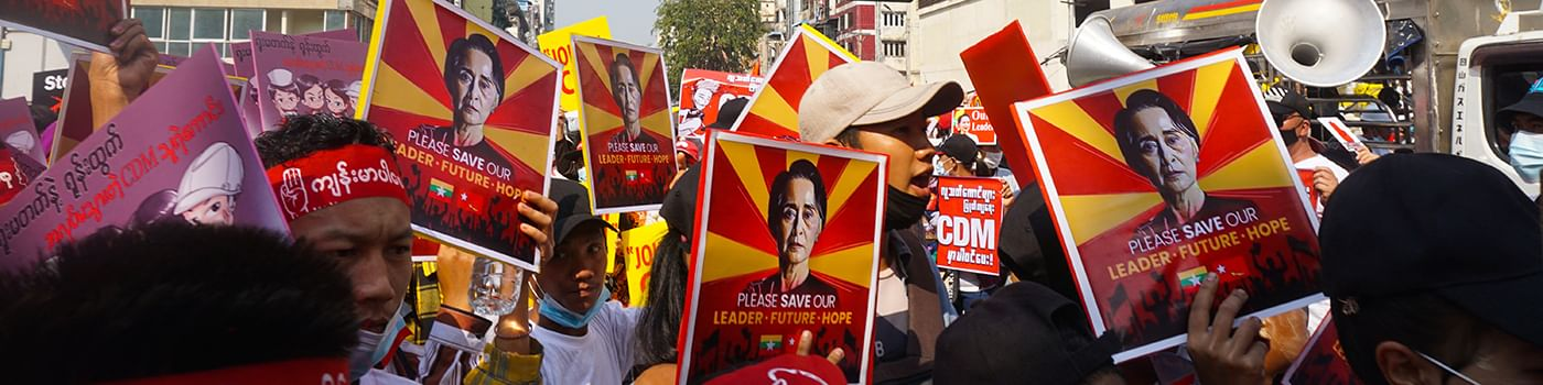 Myanmar: Das Volk protestiert gegen den Militärputsch
