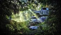 All over the world, old abandoned vehicles are left to rust and rot in nature, along with buildings and sometimes, entire towns. But these abandoned places are also wells of inspiration for artists and visitors.