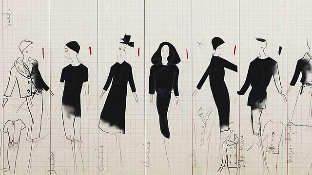 【东西视记】迪奥 CD 的设计图纸 Les dessins de Christian Dior