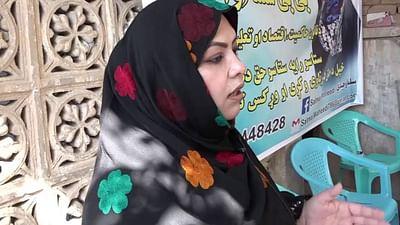Salma Waheedi, jeune candidate afghane