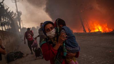 Grèce : grave incendie dans le camp de Moria