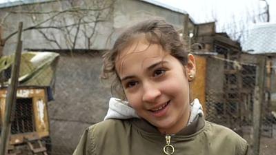 Portrait d'enfant : Gabriela en Roumanie