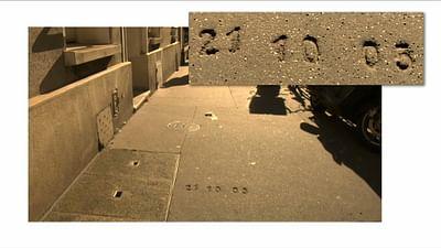 inventaire : le marquage des trottoirs à Paris