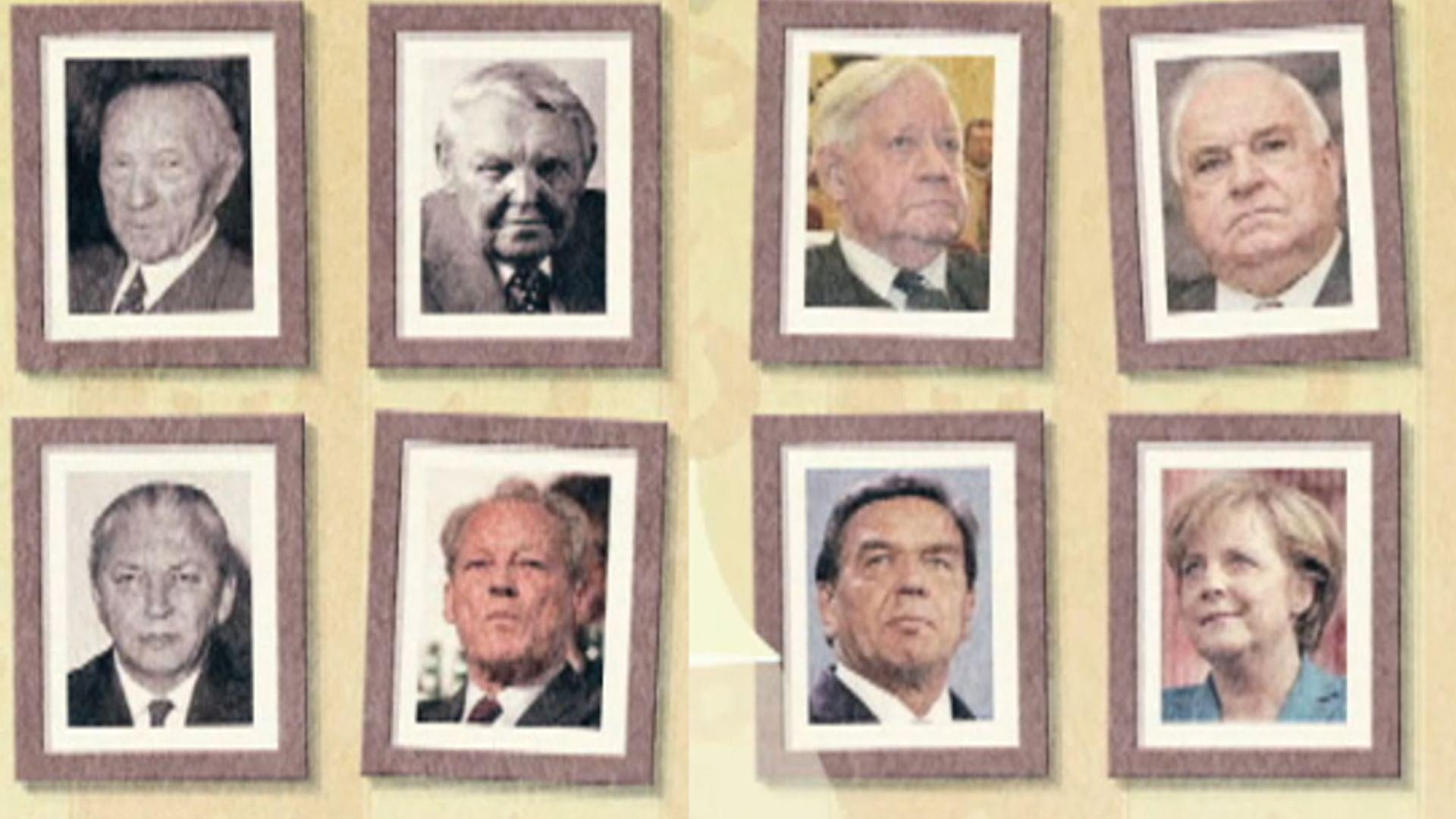 Les principaux chanceliers allemands
