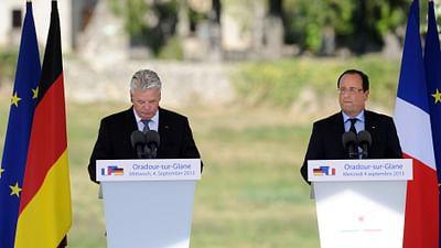 Joachim Gauck e François Hollande a Oradour-sur-Glane