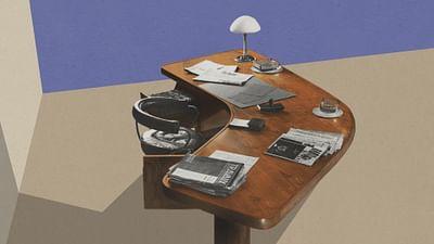 La scrivania 'Boomerang'