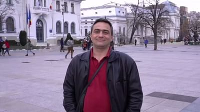 Ionut, rumuński kierowca ciężarówki w Anglii