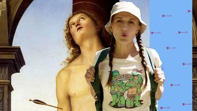 """Św. Sebastian"" Pietro Perugino (1495)"